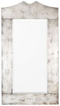 John-Richard Collection Marlow Floor Mirror - Antiqued Silver
