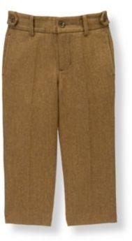 Janie and Jack Herringbone Wool Blend Suit Trouser