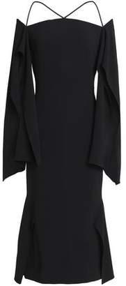 Roland Mouret Off-The-Shoulder Draped Crepe Midi Dress