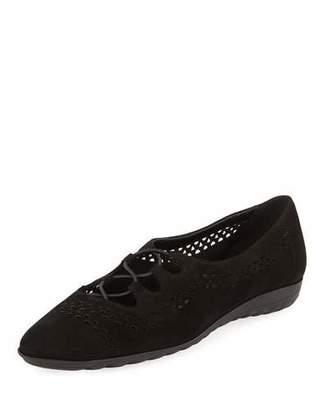 Sesto Meucci Bizzy Perforated Slip-On Flat, Black