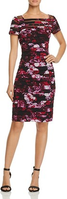 Adrianna Papell Printed Banded Dress $160 thestylecure.com