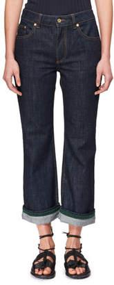 Carven Flared Straight-Leg Jeans