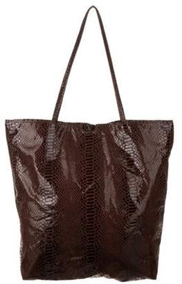 Carlos Falchi Coated Metallic Tote Metallic Coated Metallic Tote