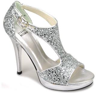 Stuart Weitzman Evening - Loverly - Silver Glittered Sandal