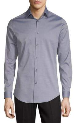 Theory Slim-Fit Solid Cotton-Blend Shirt