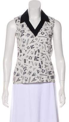 MAISON KITSUNÉ Printed Sleeveless Top