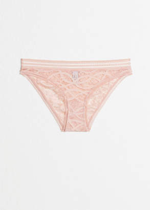 df0e5513728172 And other stories Allover Lace Briefs