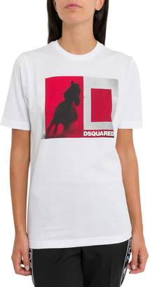DSQUARED2 T-shirt With Horse Print