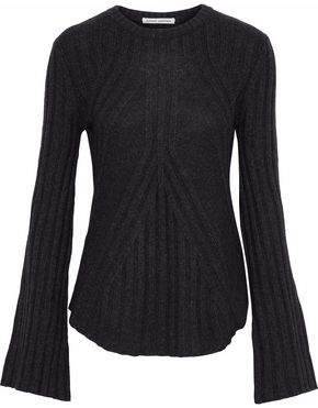 Autumn Cashmere Mélange Ribbed-Knit Sweater