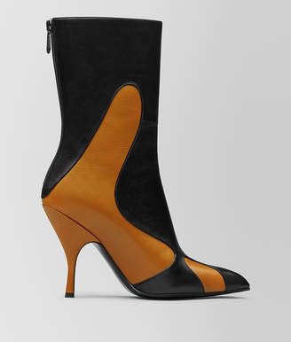 Bottega Veneta ORANGE/NERO KID MOODEC FLAME ANKLE BOOT