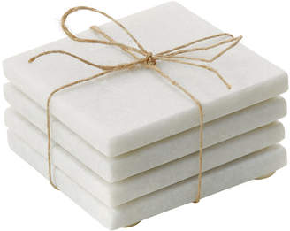 Torre & Tagus Marble Coasters Square Set Of Four