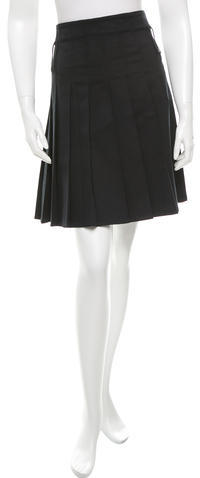 Burberry Burberry Pleated Mini Skirt