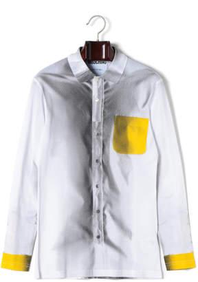 Moschino (モスキーノ) - MOSCHINO カラーブロック 長袖シャツ ホワイト 44