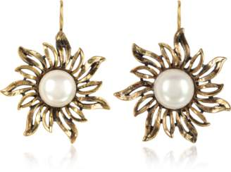 Alcozer & J Sun Earrings w/Pearls