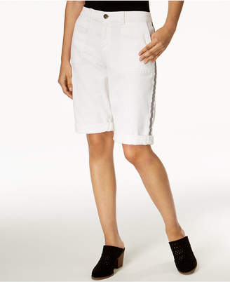 Style&Co. Style & Co Side-Stripe Bermuda Shorts, Created for Macy's