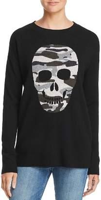 Aqua Camo Skull Cashmere Sweater - 100% Exclusive
