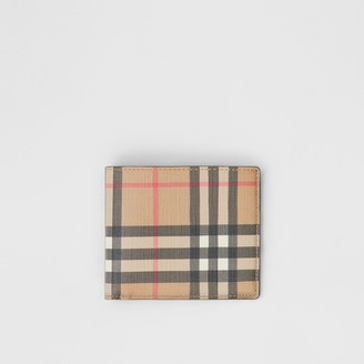 Burberry Vintage Check E-canvas International Bifold Wallet