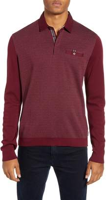 Ted Baker Friend Slim Fit Long Sleeve Polo