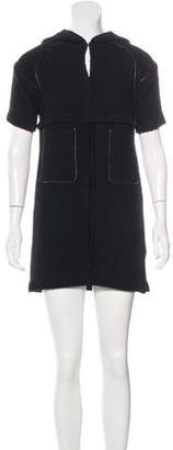 Etoile Isabel Marant Wool Leather-Trimmed Dress