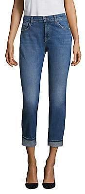 J Brand Women's Johnny Mid-Rise Medium Wash Boyfriend Jeans