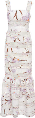 Zimmermann Corsage Linear Floral Midi Dress