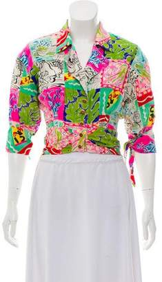 Ungaro Printed Button-Up Top