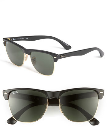 Women's Ray-Ban Highstreet 57Mm Sunglasses - Demi Black/ Green Solid