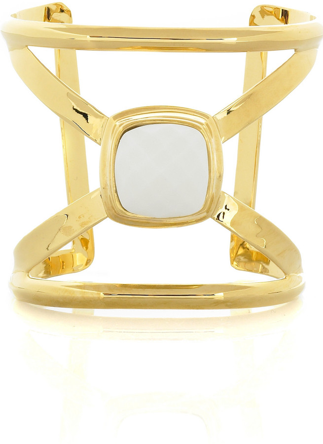 Kara Ross Kara by Gold plated X cuff