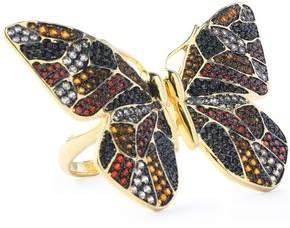 Noir Gold-Tone Crystal Ring
