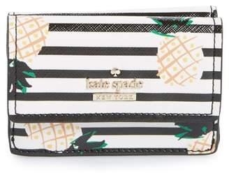 Kate Spade Cameron Street - Kay Pineapples Glazed Canvas Wallet
