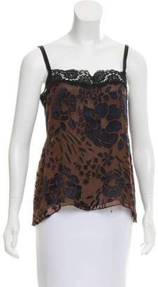Miguelina Silk Floral Print Camisole