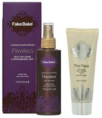 Fake Bake Flawless 6 Ounce + Anti-aging Face Lotion 2 Ounce with MatrixYL-3000 by