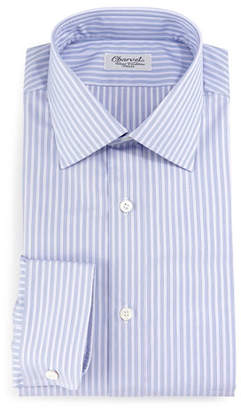 Charvet Striped Barrel-Cuff Dress Shirt, Purple