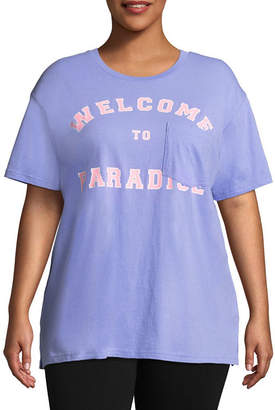 Flirtitude Welcome to Paradise Oversized Tee - Juniors Plus