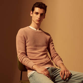 Sandro Round neck moss stitch knit sweater