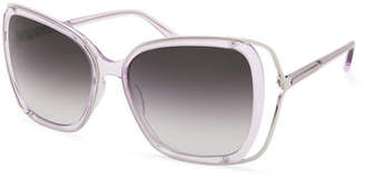 Barton Perreira Demoiselle Open-Temple Square Sunglasses
