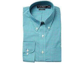 Lauren Ralph Lauren Slim Fit Non Iron Broadcloth Plaid Button Down Collar Dress Shirt Men's Long Sleeve Button Up