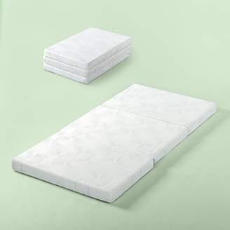 Zinus Gel Memory Foam 3 Inch Tri-Fold Comfort Portable Folding Mattress or Floor Mat