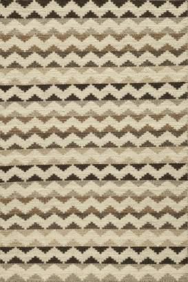 Momeni Rugs MESA0MES-5NAT80A0 Mesa Collection, 100% Wool Hand Woven Flatweave Transitional Area Rug