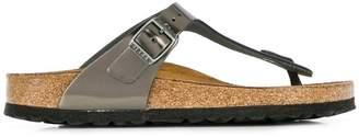 Birkenstock metallic thong flip-flops