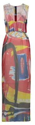 HUGO BOSS Printed Silk Dress Koluni 2 Patterned