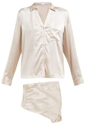 Skin - Bridal Stretch Silk Satin Pyjamas - Womens - Ivory