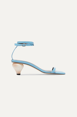 BY FAR Mari Leather Sandals - Sky blue