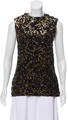 Lanvin Metallic-Accented Sleeveless Top