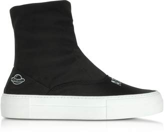 Joshua Sanders Are We Alone Black Neoprene High Top Sneakers