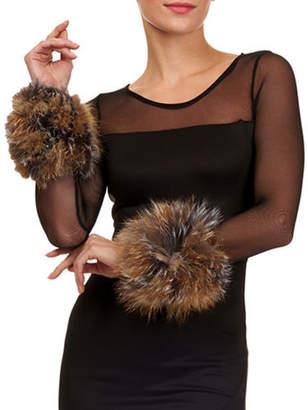 Gorski Knit Fox Fur Cuffs