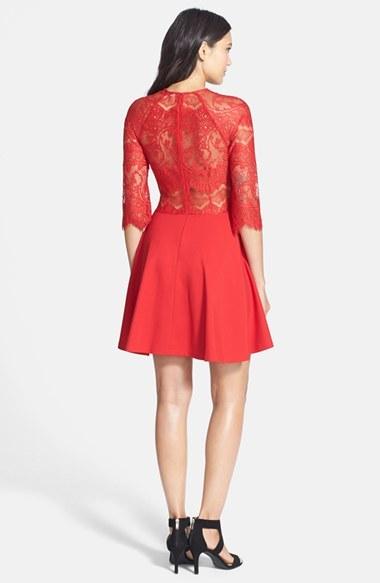 Women's Bb Dakota 'Yale' Lace Panel Fit & Flare Dress 4