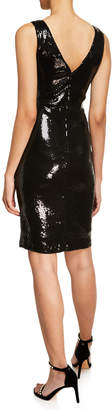 Taylor Fitted Sequin Sheath Dress