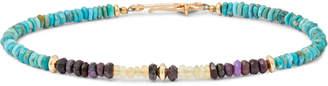 Peyote Bird Multi-Stone And 14-Karat Gold-Filled Bracelet