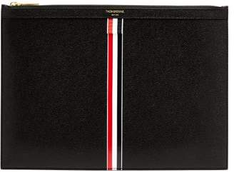 Thom Browne Medium Pebbled Leather Document Holder - Mens - Black